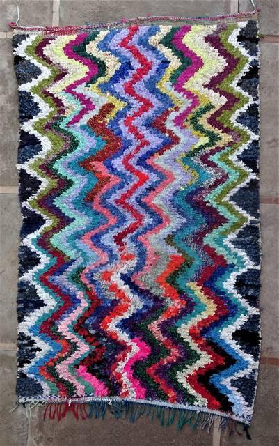 BOUCHEROUITE Boucherouite Large moroccan rugs L46181