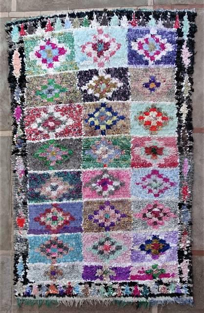 Boucherouite Large moroccan rugs L46182