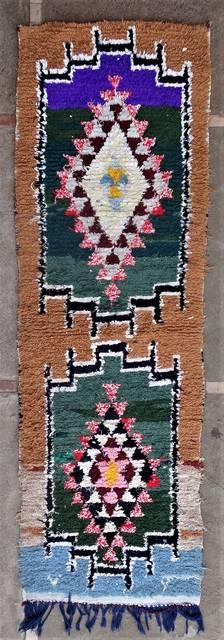 Boucherouite Corridor rugs moroccan rugs C46187