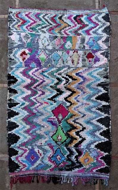 Boucherouite Large moroccan rugs L46201