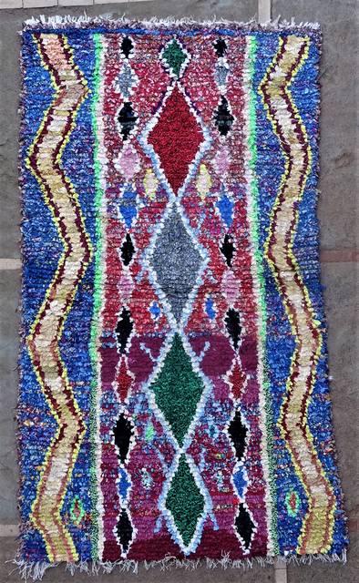BOUCHEROUITE Boucherouite Medium moroccan rugs T46202