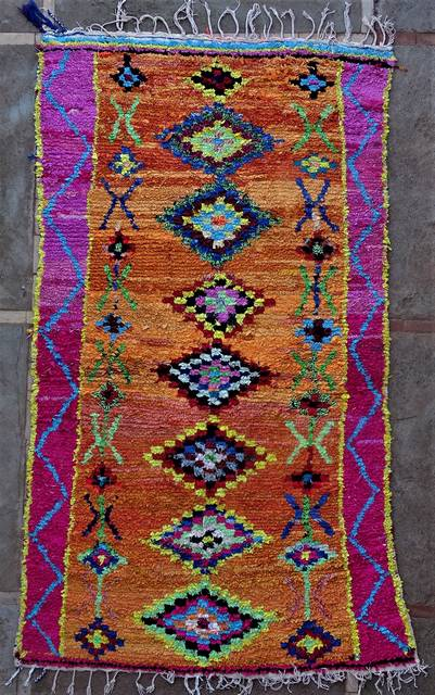 Boucherouite Large moroccan rugs L46204