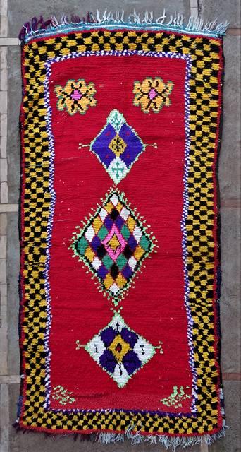 BOUCHEROUITE Boucherouite Large moroccan rugs L46205
