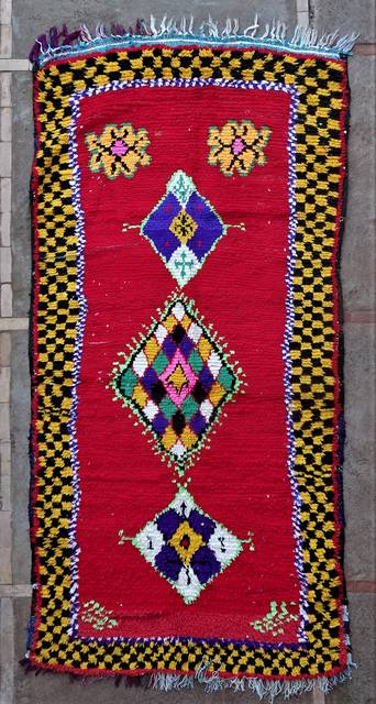 BOUCHEROUITE Boucherouite Grosse Berber Teppich L46205
