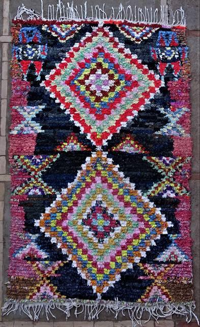 Boucherouite Medium moroccan rugs T46206
