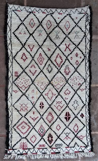 WOOL Rugs - BENI OURAIN Beni Ourain and Middle Atlas Antique moroccan rugs BOA46208 1993