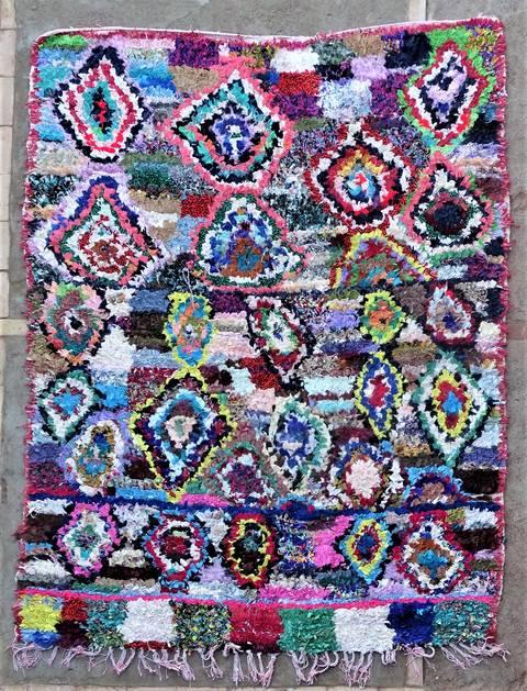 BOUCHEROUITE Boucherouite Medium moroccan rugs T46234