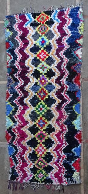 BOUCHEROUITE-KILIMS Boucherouite Large moroccan rugs L46235