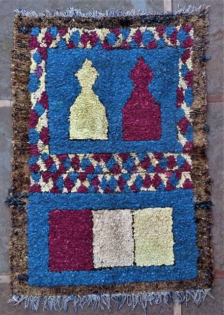 Boucherouite Medium moroccan rugs T46239