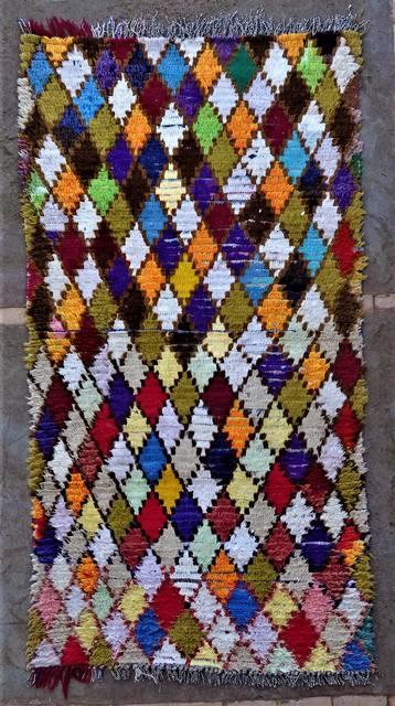 BOUCHEROUITE Boucherouite Medium moroccan rugs T46245