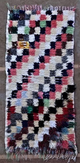 BOUCHEROUITE Boucherouite Mittlere Berber Teppich T46249