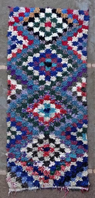 BOUCHEROUITE Boucherouite Medium moroccan rugs T46250