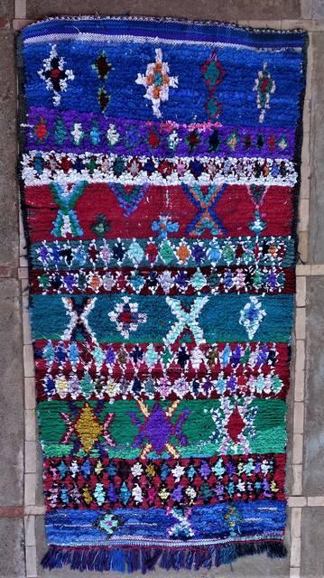 Boucherouite Mittlere Teppiche T46253