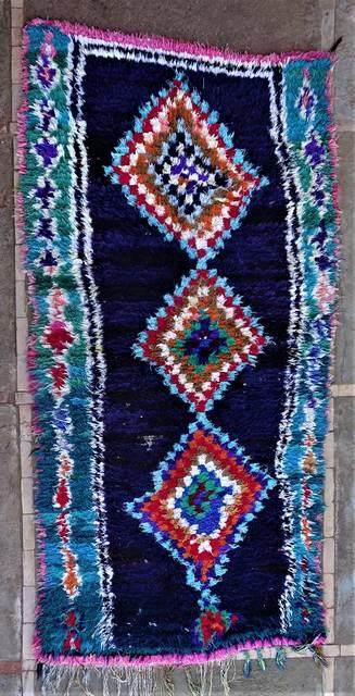 BOUCHEROUITE Boucherouite Medium moroccan rugs T46255