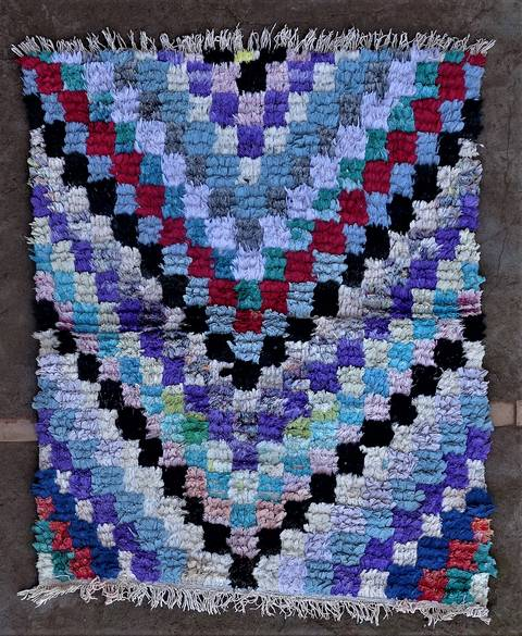 BOUCHEROUITE-KILIMS Boucherouite Small moroccan rugs TT46256