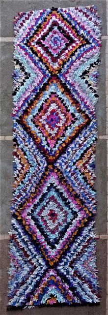 Boucherouite Corridor rugs moroccan rugs C46260