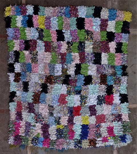 Boucherouite Large moroccan rugs L46261
