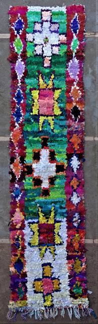 Boucherouite Corridor rugs moroccan rugs C46265