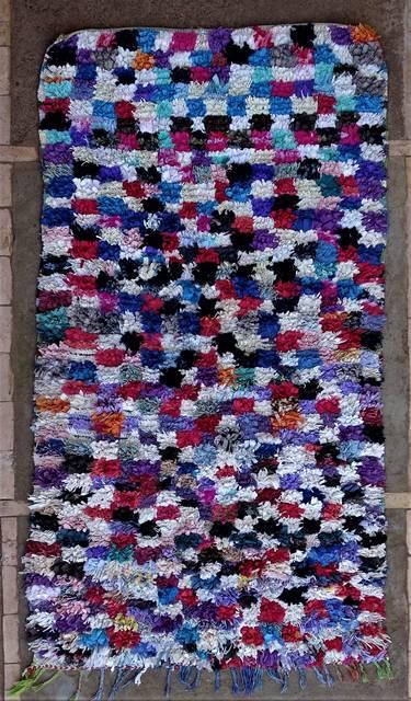 BOUCHEROUITE-KILIMS Boucherouite Medium moroccan rugs T46266