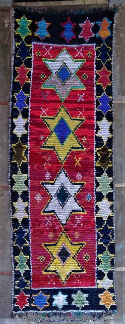 Boucherouite Large moroccan rugs L46268