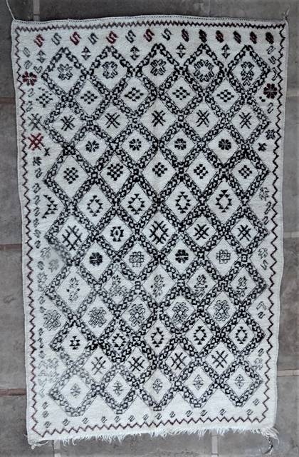 WOOL Rugs - BENI OURAIN Beni Ourain and Middle Atlas Antique moroccan rugs BOA46279