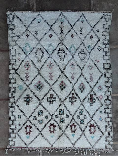 WOOL Rugs - BENI OURAIN Beni Ourain and Middle Atlas Antique moroccan rugs BOA46281