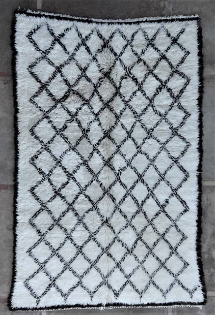 WOOL Rugs - BENI OURAIN Beni Ourain and Middle Atlas Antique moroccan rugs BOA46282
