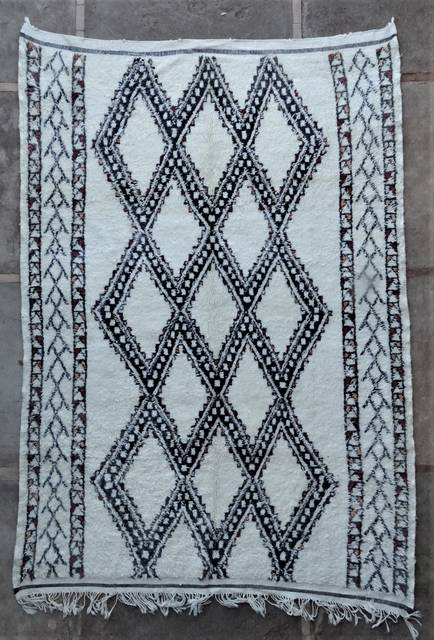 WOOL Rugs - BENI OURAIN Beni Ourain and Middle Atlas Antique moroccan rugs BOA46283