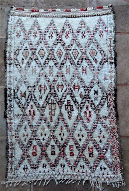 WOOL Rugs - BENI OURAIN Beni Ourain and Middle Atlas Antique moroccan rugs BOA46289