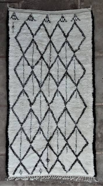 WOOL Rugs - BENI OURAIN Beni Ourain and Middle Atlas Antique moroccan rugs BOA46292