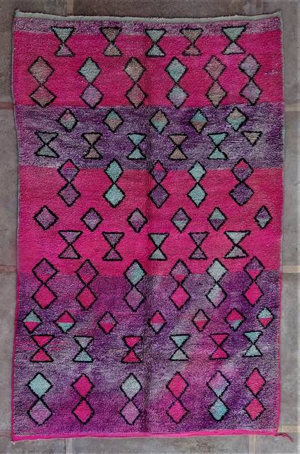 BENI OURAIN-WOOL RUGS Beni Ourain and Boujaad with colors moroccan rugs VABJ46299
