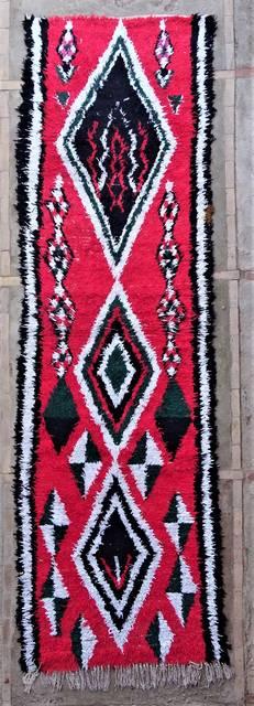 Boucherouite Corridor rugs moroccan rugs C46313