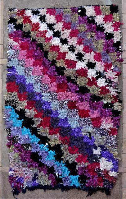 BOUCHEROUITE Boucherouite Medium moroccan rugs T46311