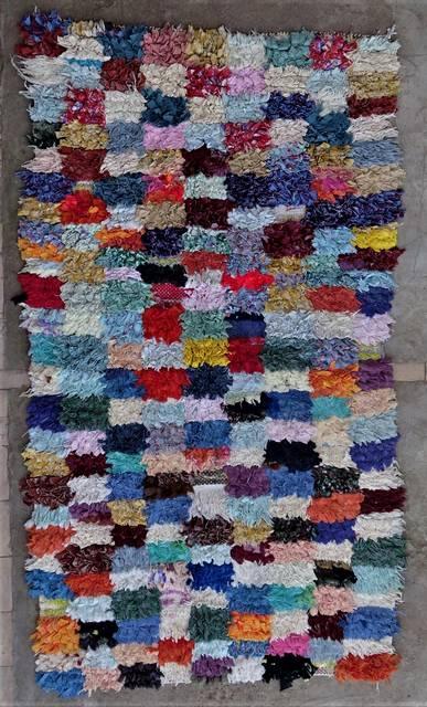 BOUCHEROUITE Boucherouite Mittlere Berber Teppich T46308