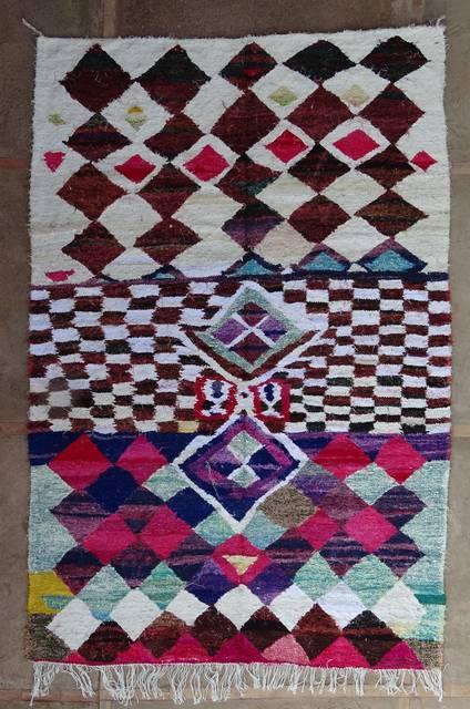 BOUCHEROUITE Boucherouite Large moroccan rugs LKC47004  kilim