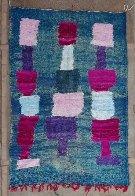 BOUCHEROUITE-KILIMS Boucherouite Medium moroccan rugs TTKC47005  kilim