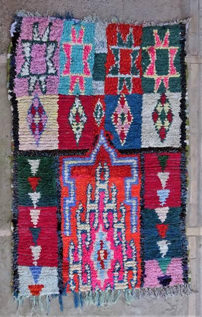BOUCHEROUITE Boucherouite Medium moroccan rugs T47012