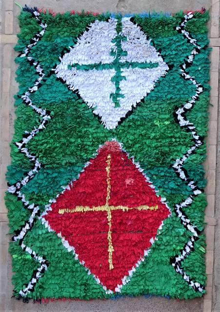 BOUCHEROUITE Boucherouite Medium moroccan rugs T47015