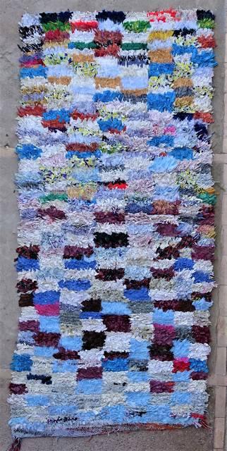 BOUCHEROUITE Boucherouite Mittlere Berber Teppich T47016