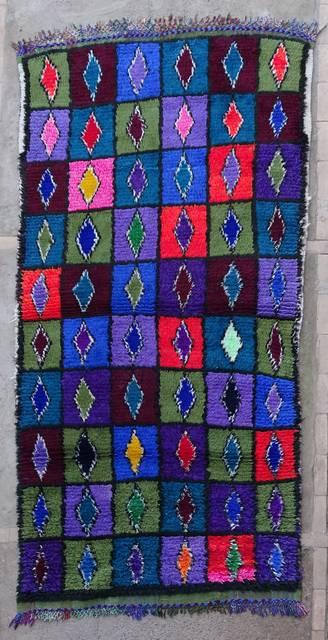 BOUCHEROUITE Boucherouite Medium moroccan rugs T47022