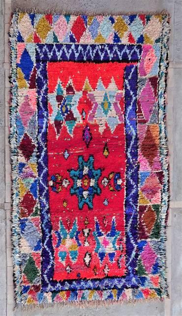 BOUCHEROUITE Boucherouite Medium moroccan rugs T47027
