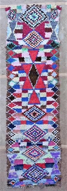 BOUCHEROUITE Corridor Boucherouite moroccan rugs C47028