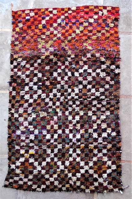 Archive-Sold Boucherouite moroccan rugs L47034