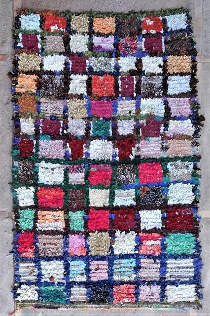 BOUCHEROUITE Boucherouite Medium moroccan rugs T47035