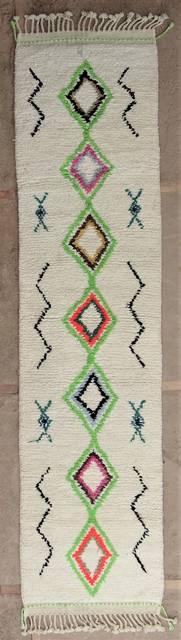 WOOL Rugs - BENI OURAIN Corridor wool rugs moroccan rugs BO47044/MA