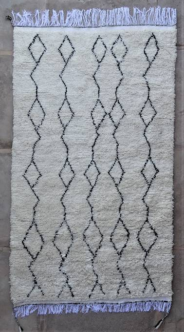 WOOL Rugs - BENI OURAIN Azilal and Ourika moroccan rugs AS47052
