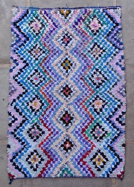 BOUCHEROUITE Boucherouite Large moroccan rugs L47054