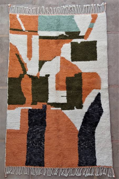 WOOL Rugs - BENI OURAIN Boujad and coloured Beni Ourain moroccan rugs BO47084/MA
