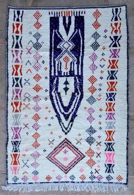 WOOL Rugs - BENI OURAIN Azilal and Ourika moroccan rugs AZ47110