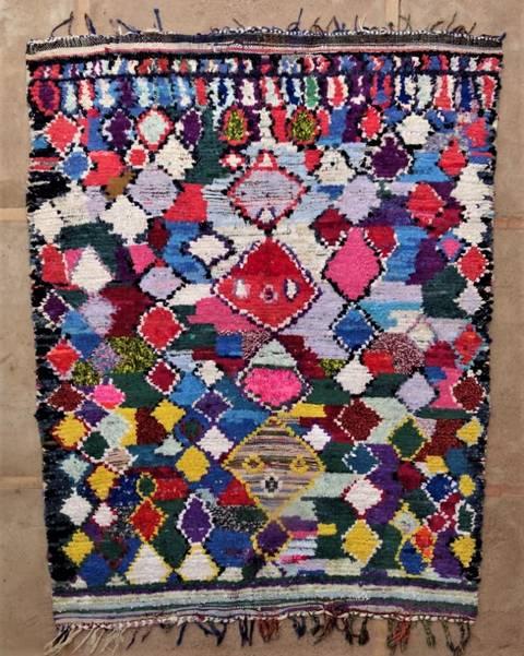 BOUCHEROUITE Boucherouite Large moroccan rugs L47117